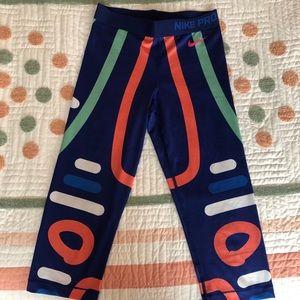 Nike Pro Crop Multicolored Leggings